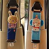 Zukida カバー 子供 枕 キッズ パッド 可愛い 動物 取付簡単 カー用品 かわいい 携帯枕 キッズ カーグッズ 旅行 (ウサギ+グレーゾウ)