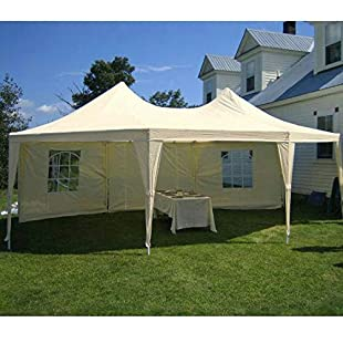 Quictent 6.8X5M(22x16FT) Heavy Duty Octagonal Marquee Outdoor Gazebo Waterproof Wedding Marquee Event Shelter