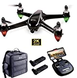 Contixo 2 Batteries F18 GPS Drone with 2K FHD Camera for Adults, Live Video 5G WiFi RC Brushless Motors Quadcopter, Advanced Selfie, Follow Me, Orbit Mode, RTH,1 Key take Off (F18 Plus)
