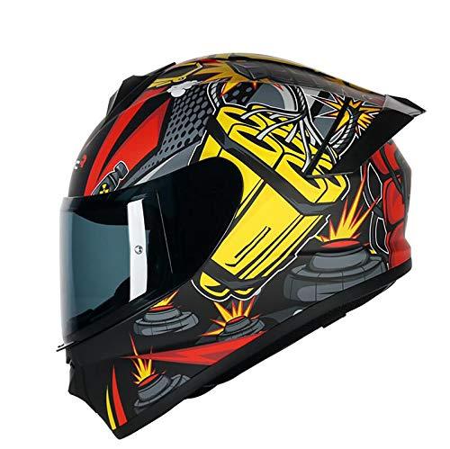 Casco Integral De Motocicleta, Casco Protector De Motocicleta, ECE Homologado Para Motocicleta,...