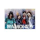 EWRW The Ramones Band Vintage Sänger Poster Leinwand