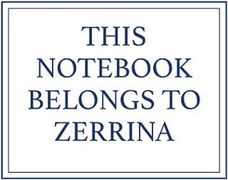 This Notebook Belongs to Zerrina