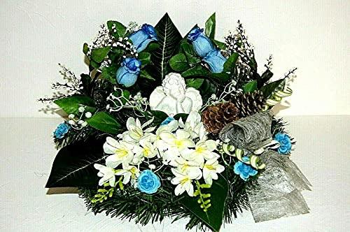 Kunstblumen Totensonntag Gesteck Allerheiligen Grabgesteck Gedenken Strauß (br 6 - 21)