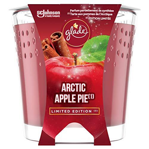 Glade (brise) Candela profumata in vetro, Arctic Apple Pie (Mcintosh mela, cannella, vaniglia), durata fino a 30 ore, confezione da 6 (6 x 129 g)