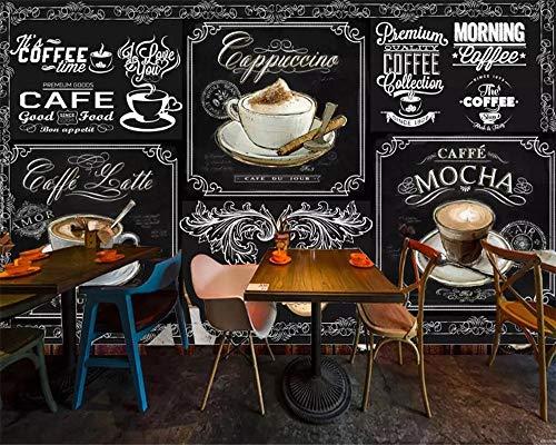 HONGYAUNZHANG Kaffeebecher Bar Restaurant Benutzerdefinierte Fototapete 3D Stereoskopischen Wandbild Wohnzimmer Schlafzimmer Sofa Hintergrund Wandmalereien,200Cm (H) X 280Cm (W)