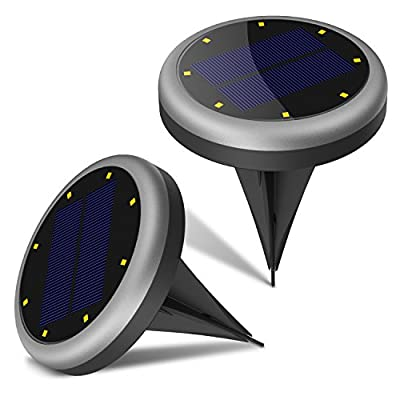 Solar Lights Outdoor, Maxchange 8 LED Solar Pathway Lights IP65 Waterproof Wireless In Ground Lights with Circuit Protection for Garden Yard Landscape Lawn [Auto On/Off]