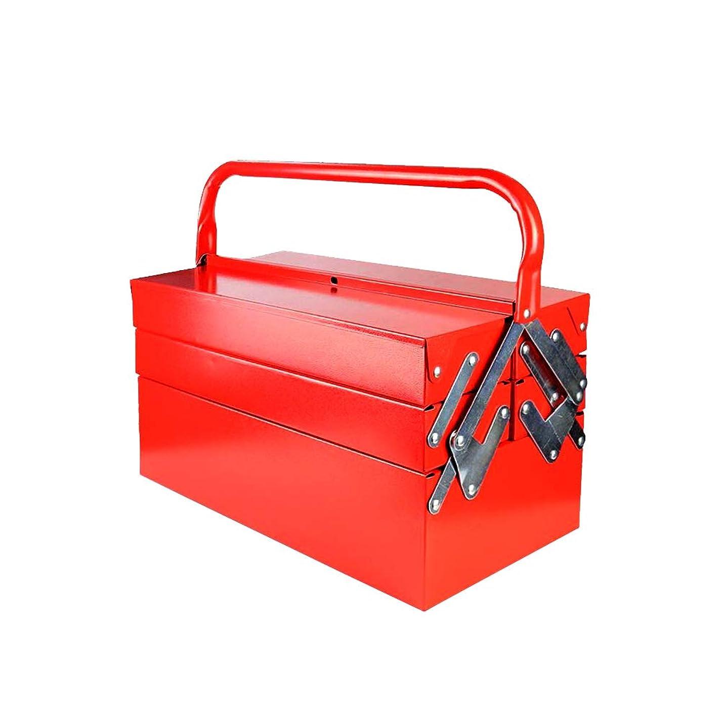 最悪舌な掃く雑貨の国のアリス ツールボックス 工具箱 収納BOX 3段 両開き 大型 工具 ケース 道具箱 [並行輸入品]
