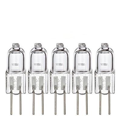 [5 Pack] G4 5 Watt 12 Volt Halogen Light Bulbs by Simba Lighting Bi-Pin (2 Pin) Base 12V 5W T3 JC Lamp Warm White