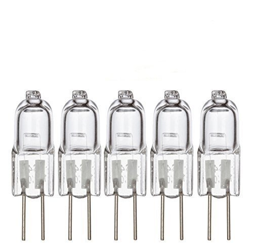 Simba Lighting Halogen G4 T3 20 Watt 280lm Bi-Pin Bulb 12 Volt A/C or D/C for Accent Lights, Under Cabinet Puck Light, Chandeliers, Track Lighting, 20W 12V 2 Pin JC Warm White 2700K Dimmable, 5-Pack