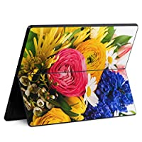 igsticker Surface Pro X 専用スキンシール サーフェス プロ エックス ノートブック ノートパソコン カバー ケース フィルム ステッカー アクセサリー 保護 000998 フラワー 花 花束