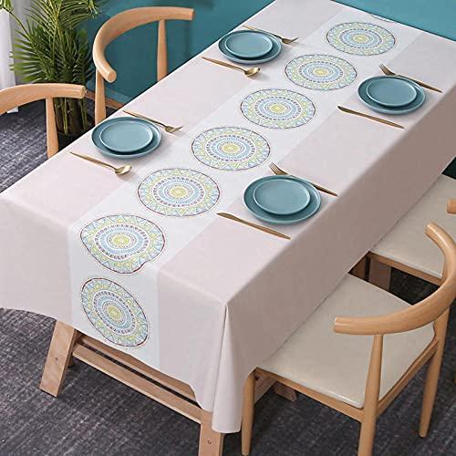 Mantel de mesa, camino de mesa, mantel para exterior, cubierta para mesa de cocina, para exterior, decoración, hotel, banquete, fiesta, color rosa, 120 cm x 160 cm