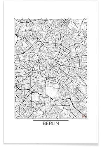 "Juniqe® Stadtpläne Berlin Poster 40x60cm - Design ""Berlin Minimal"" entworfen von Hubert Roguski"