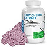 Tart Cherry Extract 2500 mg Premium Non-GMO Gluten Free Soy Free Formula Packed with Antioxidants and Flavonoids, 90 Vegetarian Capsules