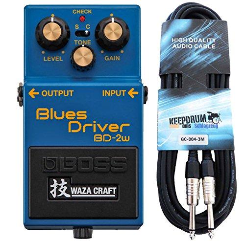 Boss BD de 2W Blues Driver waza Craft Keepdrum de guitarra cable 3m