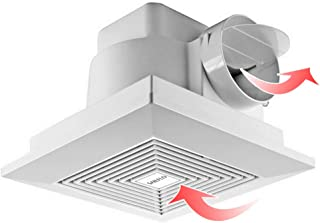 SAILFLO 8 Inch Bathroom Fan, 110V 130m³/h Wall-Mounted Exhaust Fan for Room Kitchen Attics HVAC - 10