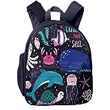 Kinderrucksack Kleinkind Jungen Mädchen Kindergartentasche Tiere Octopus Whale Turtle Backpack...