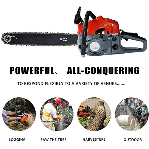 Etuoji 2 Stroke 52cc 20inch Saw Blade Petrol Chainsaw Outdoor Garden Yard Use with Tool Kit US Stock
