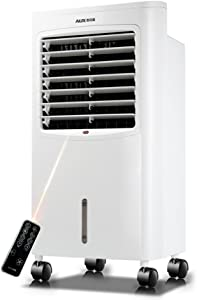 AIRZEIMIN Portable air conditioner,Bladeless quiet Refrigeration and heating 4 caster wheels Air conditioner cooling fan White-A 380300750mm
