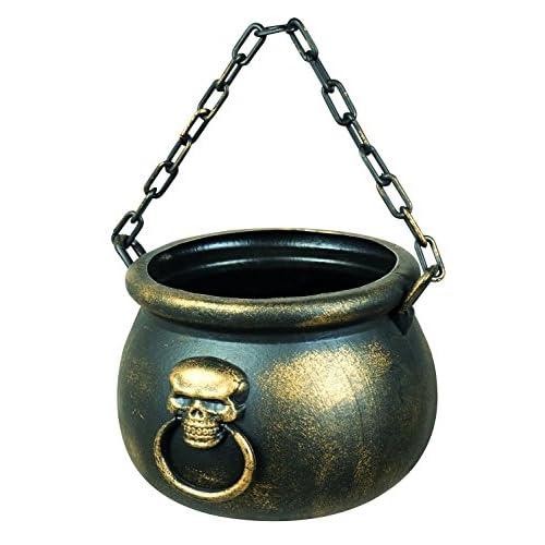 Boland- Calderone con Teschio Skull Spell, Oro, 19 x 13 cm, 72000