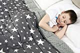 <span class='highlight'>viceroy</span> <span class='highlight'>bedding</span> Weighted Blanket for Children Kids Autism Anxiety - 100% Cotton with Sensory Soft Minky Dot Reverse Side - Heavy Weight Blanket for Sleep Therapy (Stars Grey, 100cm x 155cm, 4.5kg)