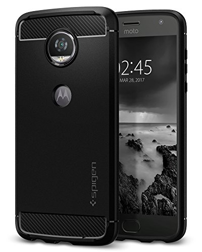 Spigen Moto Z2 Play Funda, Rugged Armor – Resilient Shock Absorption and Carbon Fiber Design for Motorola…
