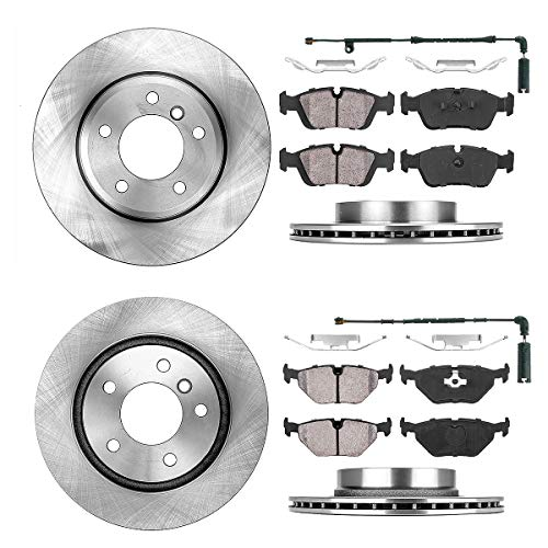 [ E46 ] FRONT 300 mm + REAR 294 mm Premium OE 5 Lug [4] Rotors + [8] Ceramic Brake Pads + Sensors + Hardware CRK11044