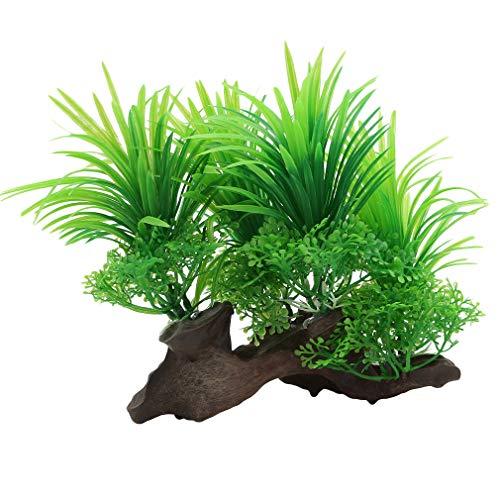 Yinew Künstliche Aquarienpflanzen-gefälschte Wasser-Gras-Aquarium-Unterwasserlandschaftsdekorations-Verzierung, grün
