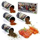 (4x100g) Premium-Grill-Gewürze Mix Barbecue, Steak, Argentina, Shawarma - wiederverschließbar –...
