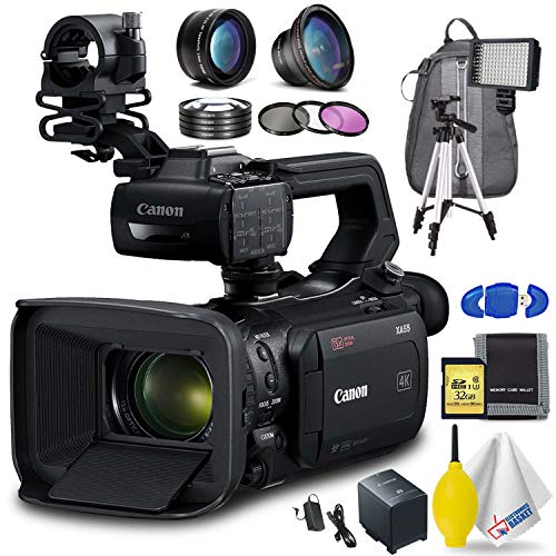 Review Canon XA55 Professional UHD 4K Camcorder Advanced Accessory Bundle