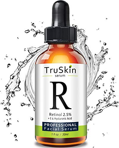 TruSkin RETINOL Serum for Wrinkles, Fine Lines, contains Vitamin A, E and Hyaluronic Acid, Organic Green Tea, Jojoba Oil, BEST Anti Wrinkle Facial Serum,1oz TruSkin Naturals