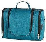 B.PRIME Kulturbeutel Classic XL Deep Blue – Premium Kulturtasche mit extra viel Stauraum zum Aufhängen – Maße der Waschtasche 28x13x22cm