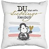 Sheepworld 46951 Kissen Motiv Mensch, Zierkissen, 40 cm x 40 cm, Wendemotiv