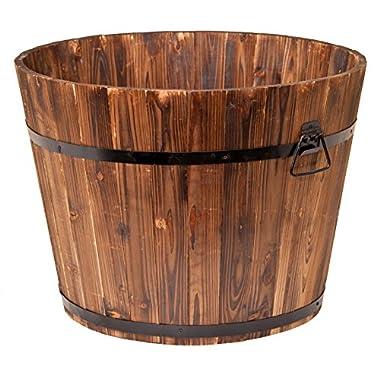 DeVault Enterprises 23  x 17  x 17  Whiskey Barrel Planter, Large