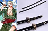 Dream2Reality Cosplay One Piece Zoro Yubashiri Replica Sword T10 Clay Tempered Ultimate High Carbon Steel Full Handmade Full Tang Katana