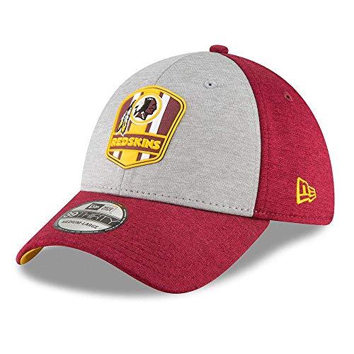 New Era NFL Washington Redskins Authentic 2018 Sideline 39THIRTY Stretch Fit Road Cap, Größe :S/M