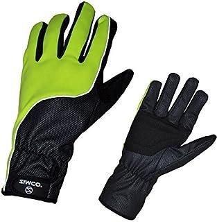 Zimco Hi-Viz Windbreaker Winter/Windproof Thermal Cycling Bike Gloves Mitts (Large)