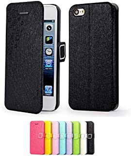 79118ffbab Mulbess Apple iPhone 5C DearStyles étui Housse en cuir ultra-slim pour  iPhone 5C Couleur