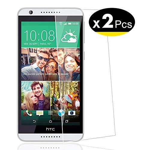 NEW'C PanzerglasFolie Schutzfolie für HTC Desire 820, [2 Stück] Frei von Kratzern Fingabdrücken und Öl, 9H Härte, HD Displayschutzfolie, 0.33mm Ultra-klar, Displayschutzfolie
