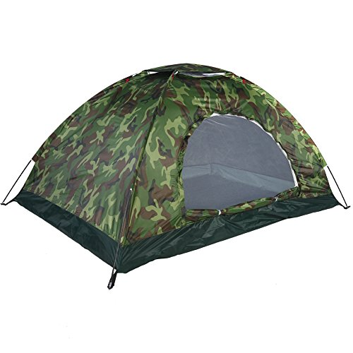 Alomejor Outdoor Tent Camouflage Camping Tent UV Protection Waterproof 2 Persons Tent for Camping Hiking Picnic Fishing 200 * 150 * 110 cm