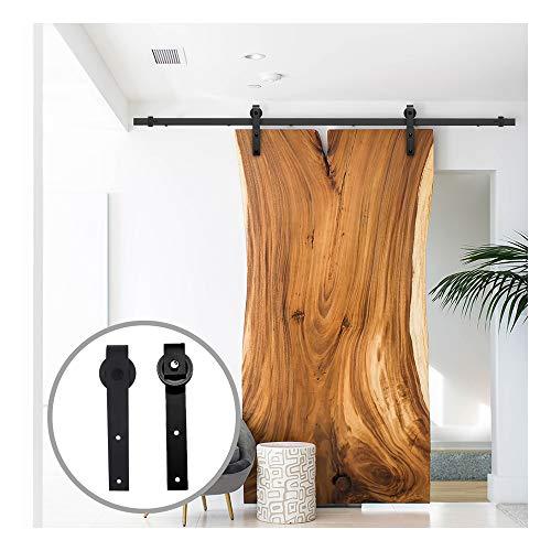 para puertas y muebles de madera Picaporte de puerta de hierro fundido negro estilo retro de CCJH