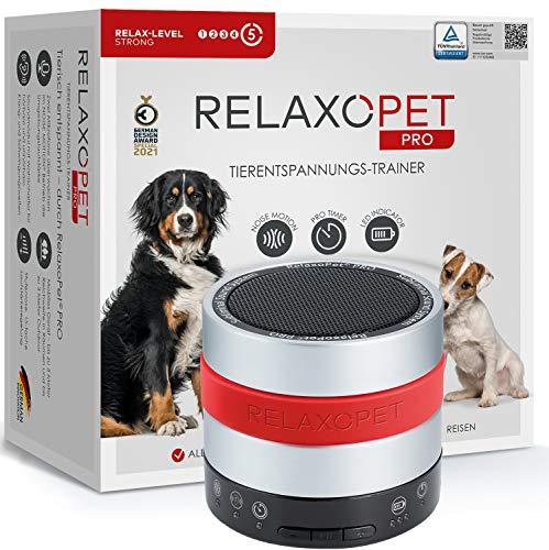 RelaxoPet PRO Tierentspannungs-Trainer   TÜV zertifiziert   Für Hunde   Beruhigung durch Klangwellen   Ideal bei allen Stressoren   Hörbar und unhörbar.