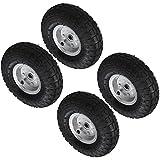 "Pack Of 2 - 10"" Pneumatic Wheels For Sack Trucks / Trolleys /"