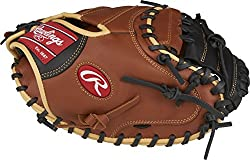 professional Rawlings Sandlot Series Leather Gloves (1 Piece), 33 Inches, Right Throw