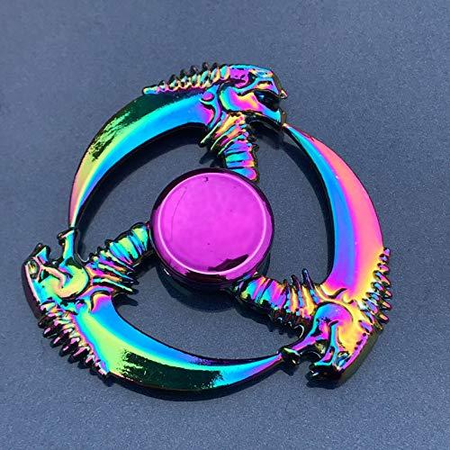 JLZK El rodamiento del Metal del hilandero de la aleación del hilandero de la Mano del Arco Iris Alivia el estrés