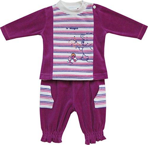 Playshoes GmbH Schnizler Baby-Mädchen Nickianzug, Freizeitanzug Bär It´s Magic Jogginganzug, Violett (original 900), (Herstellergröße: 56)
