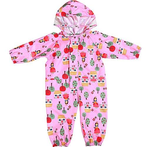 Kids Regen Poncho Siamese Poncho Roze Regenjas Dunne Hooded Regenjas Kind Baby XL