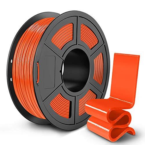 PETG 3D Printer Filament 1.75mm, SUNLU PETG Filament, Strong 3D Filament, Dimensional Accuracy +/- 0.02 mm, 1 kg Spool, Orange