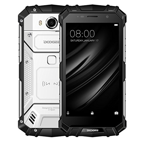 IP68 impermeable a prueba de polvo y golpes, batería de 5580mAh, identificación de huellas dactilares, 5.2 pulgadas Sharp Android 7.0 MTK6750T Octa Core hasta 1.5 GHz, red: 4G, NFC, OTA, recarga inalá