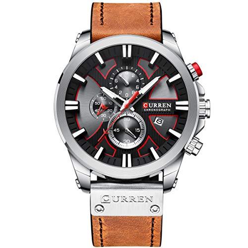 CURREN 8346 Luxury Business Quarzwerk Herrenuhr 3ATM Wasserdichtes, großes Zifferblatt Leuchtendes Sport-Armbanduhr Mikrosekunden-Sekunden-Chronograph Unterzifferblätter Kalenderuhr Armbanduhr für