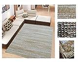 Comercial Candela Alfombra de Salón Frise Pelo Largo Tupido Moderno Jaspeado Color (Beige, 133_x_190 CM)